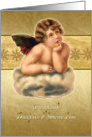 Merry Christmas to my daughter & son-in-law, vintage cherub card