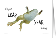 Leap year birthday - hope it's a hoppy one card