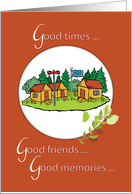 Summer Camp Cabins Thinking of You card