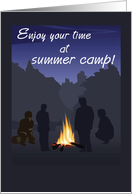 Summer Camp Campfire Thinking of You card