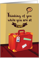 Thinking of You at Camp, Suitcase Filled With Memories card