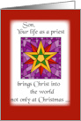 Son, Priest Christmas Star card