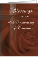 40th Anniversary of Ordination card