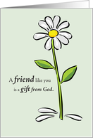 Friend Like you Gift from God Birthday card