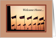 Welcome Home from Service card