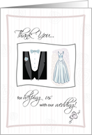 Thank You for helping us with our wedding! card