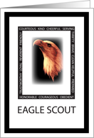 Eagle Scout, Congratulations, Virtues of Scouting card