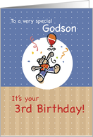 Godson 3rd Birthday card