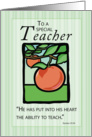 Teacher Thank You Religious card