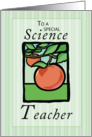 Science Teacher Thank You card