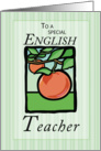 English Teacher Thank You card