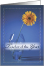 Teacher Of The Year Award card