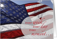 Patriotic Every Moment in Heart card