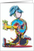 Blue Haired Guitar Player card