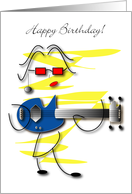 Bass Player Girl Happy Birthday card