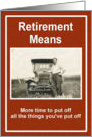 Retirement Wishes card