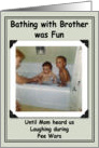 Bathing Brothers Birthday - Funny card