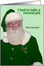 St. Patrick&rsquo;s Day Santa - FUNNY card