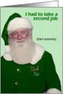 St. Patrick's Day Santa - FUNNY card