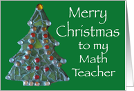 Merry Christmas Math Teacher card