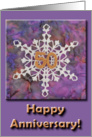 50th Anniversary Golden Snowflake card