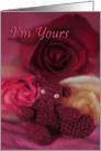 rose bear card