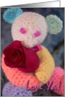 Spare Parts Bear Love Valentine card