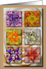 digital flower quilt card