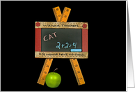 back to school for teacher-chalkboard with apple card