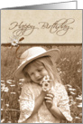 vintage birthday-daisy card