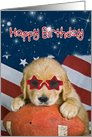 golden retriever-football-birthday card