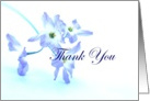 Thank You For Listening - Blue Flowers card