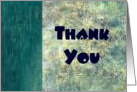 Abstract Thank You - For Doctor card
