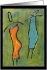 Abena and Ajambo - Ethnic African Art Note Card Sisterhood Series card