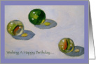 Happy Birthday To Someone Who Hasn't Lost A Single Marble: Painting card
