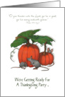 Thanksgiving Party Invitation: Mice, Pumpkins: Artwork, Christian card