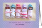 Thanks To Midwife: Group of Babies, Original Polymer Clay Sculptures card