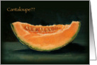 Elopement Announcement, Humorous, Cantaloupe Painting, Pun, Funny card