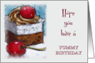 Happy Birthday, General, Hope It's Yummy, Painting of Cake card