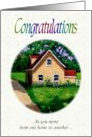 Congratulations on Move To Nursing Home, New Home card