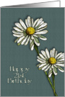 Happy 21st Birthday To Great-Granddaughter: Two Daisies, Flowers card