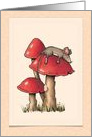 Sorry to Hear You've Been Under the Weather, Cute Mouse on Toadstool card
