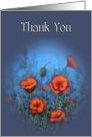 General Thank You, Red Poppies, Original Painting, Impressionism card