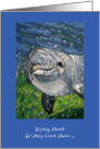 Congratulations, Heard Your Big News, I'm Trying To Stay Cool! Dolphin Under Water card