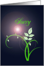 Sorry - Green Flower card