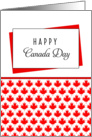 Canada Day Greeting Card-Red Maple Leaf Background card