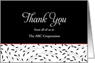 Customer Thank You Card-Black Swirls-Appreciation-Customizable Text card