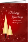 From Business Christmas Card-Gold Colored Trees-Customizable Text card
