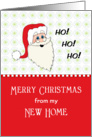 My New Address Christmas Card-Santa Wearing Glasses-Ho Ho Ho card