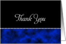 General Thank You Card - Blue and Black card
